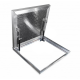 Aluminum fillable floor hatch for indoor and outdoor use 70cm x 70 cm