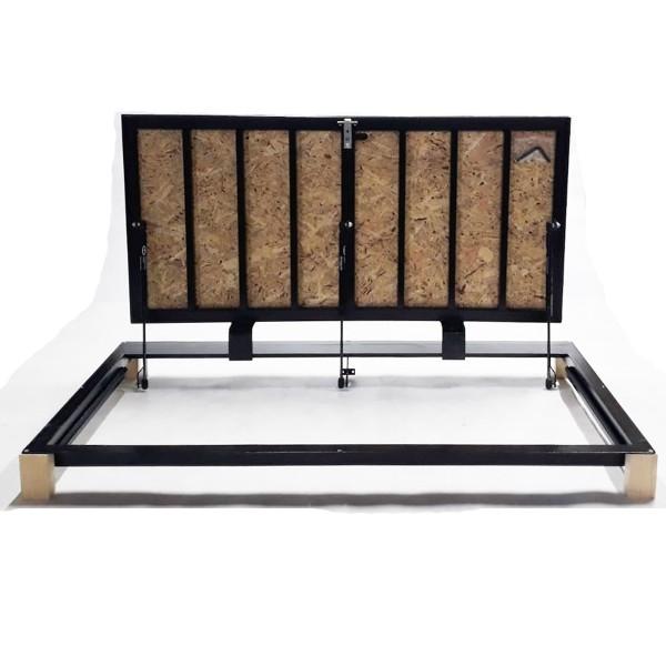 Floor steel access door size 70 cm x 130 cm H with OSB panel for wood flooring