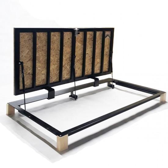"""Floor steel access door size 80 cm x 130 cm """"H"""" with OSB panel for wood flooring"""