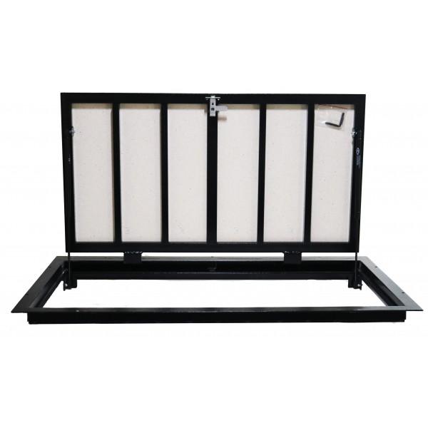 Floor steel access door size 70 cm x 150 cm H
