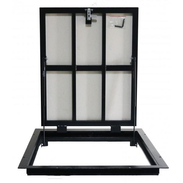 Floor steel access door size 90 cm x 70 cm H